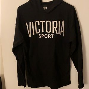 Victoria Secret Sport Black Hoodie Sweatshirt XS